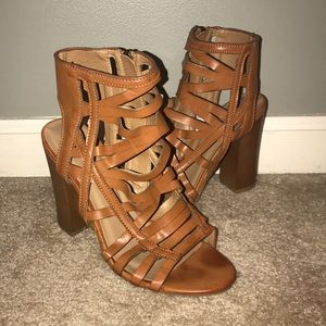 Bamboo Tan Ankle Booties